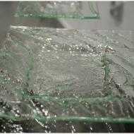 Zestaw komplet patera szklana i talerzyki